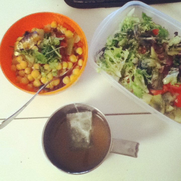 Beans and salad