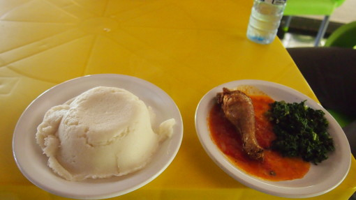 nshima and chicken stew